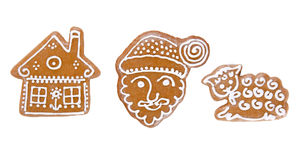 Traditional gingerbread cookies Royalty Free Stock Photos
