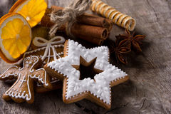 Traditional gingerbread cookies Royalty Free Stock Images