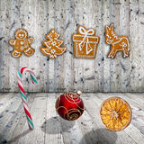 Traditional gingerbread cookies Stock Photos
