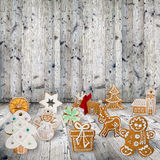 Traditional gingerbread cookies Royalty Free Stock Photo