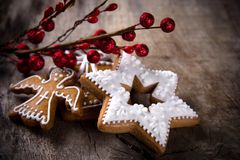 Traditional gingerbread cookies Royalty Free Stock Photography