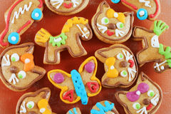 Traditional gingerbread cookies Stock Photography