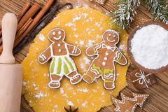 Traditional gingerbread dought Stock Photos