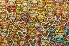 Traditional gingerbread in form of heart Royalty Free Stock Photo