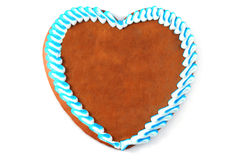 Traditional gingerbread heart with copy space. oktoberfest Stock Photo
