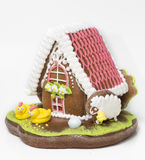 The traditional gingerbread house Royalty Free Stock Images