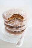 Traditional gingerbread with sugar icing Royalty Free Stock Photos