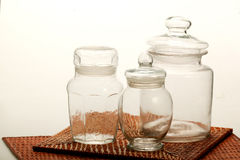 Traditional glass jar Royalty Free Stock Images