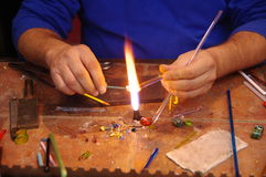 Traditional Glass maker Stock Images