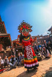 Traditional God Dance in Bhaktapur, Nepal. Royalty Free Stock Images