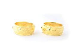 Traditional gold bracelets Stock Photo