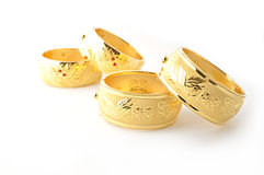Traditional gold bracelets Royalty Free Stock Photos