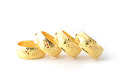 Traditional gold bracelets Royalty Free Stock Photography