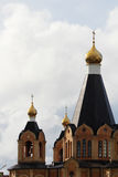 A traditional golden cupola in Russian cathedral Royalty Free Stock Photos