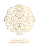 Traditional golden decor on white background Stock Images