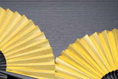 Traditional golden folding fan Royalty Free Stock Photography