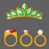 Traditional golden jewellery bangles diamond luxury fine minute precious gold jewelery vector illustration. Traditional golden jewellery bangles diamond luxury Stock Photo
