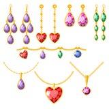 Traditional golden jewellery bangles diamond luxury fine minute precious gold jewelery vector illustration. Traditional golden jewellery bangles diamond luxury Stock Photos