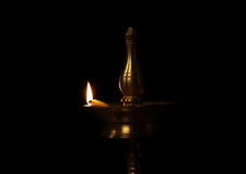 Traditional Golden Oil Lamp Royalty Free Stock Photo