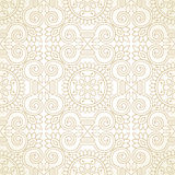 Traditional golden seamless wallpaper Royalty Free Stock Images
