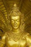Traditional golden statue of Buddha, Thailand Stock Photo