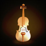 Traditional  golden violin  on black background. Royalty Free Stock Image