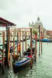 Traditional gondola in Venice, Italy Stock Photo