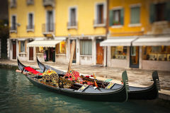 Traditional gondoles in Venice. Italy Stock Image