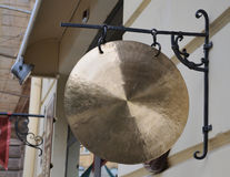 Traditional gong. Hong for supplying the audio signal royalty free stock images