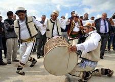 Traditional Gorani male dancing stock photography