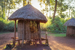 Traditional granary of Kenyan people Stock Photo