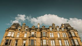 Traditional Glasgow Tenement Apartments. A Traditional Grand Sandstone Glasgow Tenement Apartments stock photos