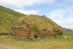 Traditional grassy house, Iceland Stock Photo