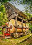 Traditional grave in Kete Kesu royalty free stock images