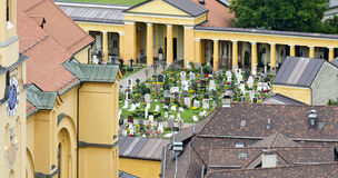 Traditional graveyard of Bruneck Stock Image