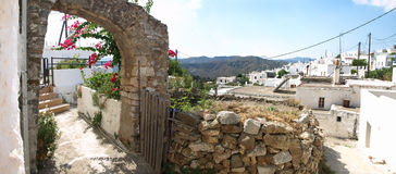 Traditional Greece. Traditional Greek village panoramic view, island of Rhodes royalty free stock images