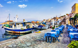 Traditional Greece series - Chalki island royalty free stock photo