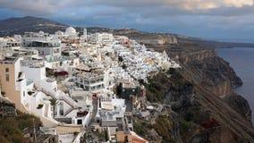 Traditional greece village fira on santorini island Royalty Free Stock Image