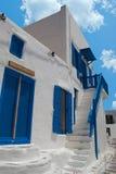 Traditional greek alley on Mykonos island Royalty Free Stock Photos