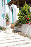 Traditional greek alley on Sifnos island Stock Photos