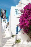 Traditional greek alley on Sifnos island Royalty Free Stock Image