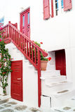 Traditional greek alley on Sifnos island Royalty Free Stock Photo