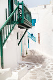 Traditional greek alley on Sifnos island Stock Photography