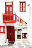 Traditional greek alley on Sifnos island Stock Photo