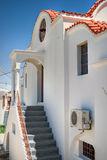 Traditional Greek architecture. Rhodes, Lindos royalty free stock image