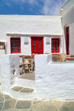Traditional greek architecture on Cyclades islands Stock Photo