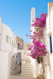Traditional greek architecture on Cyclades islands Stock Photos
