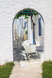 Traditional Greek architecture on Mykonos island Royalty Free Stock Photo