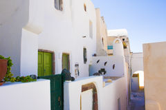 Traditional greek architecture Santorini Island Pyrgos village Royalty Free Stock Photos