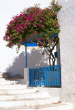 Traditional Greek balcony on Milos island Royalty Free Stock Photos